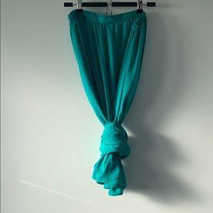 ZARA Basic Maxi Satin Wrap Skirt